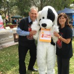 Mayor Susan Haynie and Councilman Robert Weinroth meeting the TCAR mascot